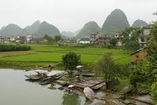Free Karst Hills Of Rural Guilin Royalty Free Stock Photos - 17381678