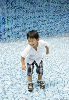 Free Smiling Boy Having Fun Alone Royalty Free Stock Image - 17382326