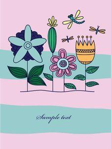 Free Vintage Floral Background Stock Image - 17382411