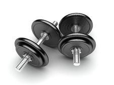 Free Two Dumbbells Stock Photography - 17382702
