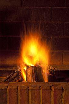 Free Fireplace Royalty Free Stock Image - 17383096