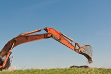 Free Hydraulic Excavator Arm And Bucket Royalty Free Stock Photos - 17383208