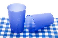 Free Blue Cups Royalty Free Stock Images - 17383259