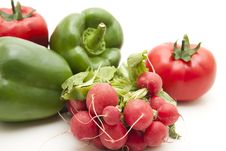 Free Radishes And Paprikas Royalty Free Stock Photo - 17383495