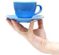 Free Man Hand Hold Coffee Cup Closeup Stock Image - 17383581