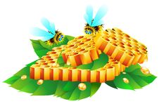 Free Honeycomb And Bees Stock Photography - 17383922