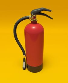 Free Extinguisher On The Wall Stock Image - 17384041