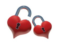 Free Hearts Unlock Royalty Free Stock Images - 17384209