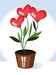 Free Flowers Hearts,CMYK Royalty Free Stock Image - 17384256