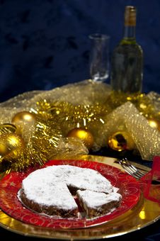 Free Gingerbread And White Wine Royalty Free Stock Images - 17384319