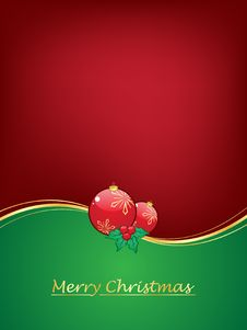Free Christmas Background With Christmas Balls Royalty Free Stock Images - 17384339