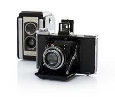 Free Old Cameras Stock Photography - 17384592