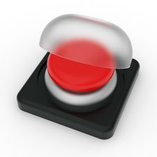 Free Red Button With Cover Royalty Free Stock Photography - 17384607