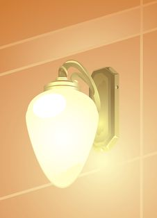 Free Luminous Retro Lamp Stock Photo - 17384830