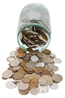 Free Money In A Glass Jar Stock Photography - 17384922