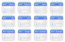 Free Calendar 2011 Year Stock Photos - 17385063