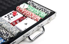 Free Poker Set In Case Royalty Free Stock Photography - 17385247