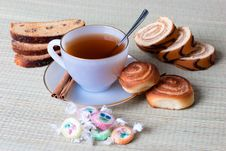 Free Tea With Cookies Royalty Free Stock Photos - 17385298