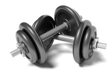 Free Two Dumbbells Royalty Free Stock Images - 17385389