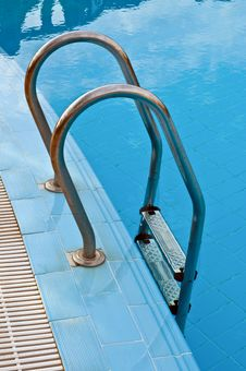 Invitation - Steps Into A Swimming Pool Stock Photography