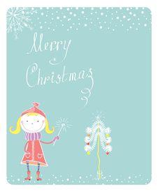 Free Christmas Card Royalty Free Stock Photos - 17385538