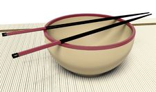 Free Dish And Chopstick Royalty Free Stock Photo - 17385565