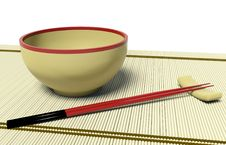 Free Dish And Chopstick Royalty Free Stock Photo - 17385605