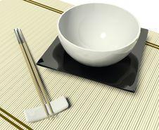 Free Dish And Chopstick Stock Image - 17385621