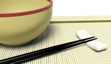 Dish And Chopstick Royalty Free Stock Images