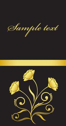 Free Gold Flower Royalty Free Stock Image - 17385676
