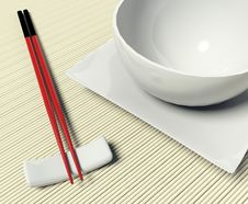 Free Dish And Chopstick Stock Images - 17385684