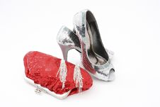 Free Elegant Handbag And Shoes For Women Stock Photos - 17385763