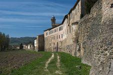 Italian Medieval Town Walls Royalty Free Stock Photo