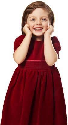 Happy Little Girl Four Years Old With Best Dress Royalty Free Stock Photo