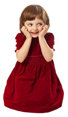 Little Girl Four Years Old With Best Dress Royalty Free Stock Photos