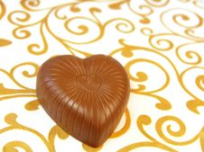 Free Mouthwatering Chocolates In A Heart-shaped Stock Photography - 17386522