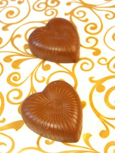 Free Mouthwatering Chocolates In A Heart-shaped Stock Photography - 17386532