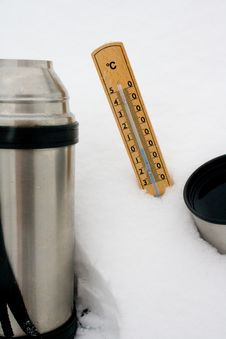 Free Thermometer In Snow Royalty Free Stock Images - 17386559