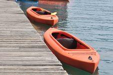 Free Two Orange Kayak Royalty Free Stock Photos - 17386648