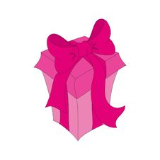Free Pink Isolated Gift Royalty Free Stock Photos - 17387038