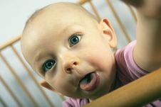 Free Baby Shows Tongue Royalty Free Stock Images - 17387079