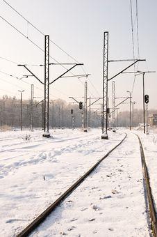 Free Winter Trackway Stock Photos - 17387893