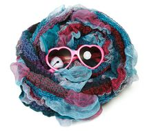 Free Varicoloured Scarf Is Put Around With Spectacles Royalty Free Stock Photo - 17387945