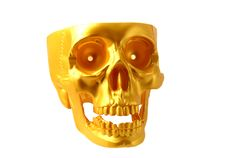 Free Skull  Gold Royalty Free Stock Photography - 17388027