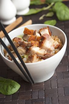 Free Pork With Rice Royalty Free Stock Image - 17388086