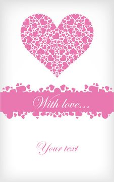Free Abstract Valentines Card Stock Photography - 17388972
