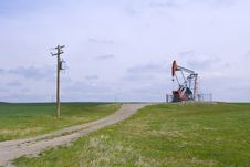 Free Heavy Oil Pump Jack Royalty Free Stock Photos - 17388998