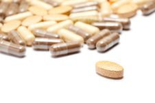 Free Medicinal Pills Piled Up A Bunch Royalty Free Stock Photos - 17389058