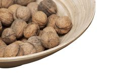 Free Wooden Bowl With Walnuts Royalty Free Stock Images - 17389379
