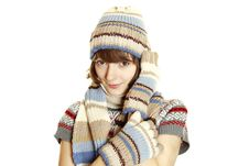 Free Winter Woman Royalty Free Stock Photo - 17389995
